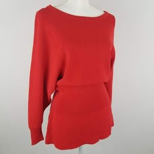 NWT Zara Red Long Sleeve Knit Sweater